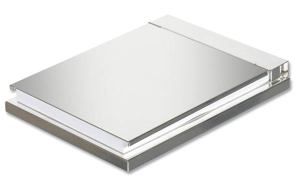 Memo Pad with Silver Plated Cover